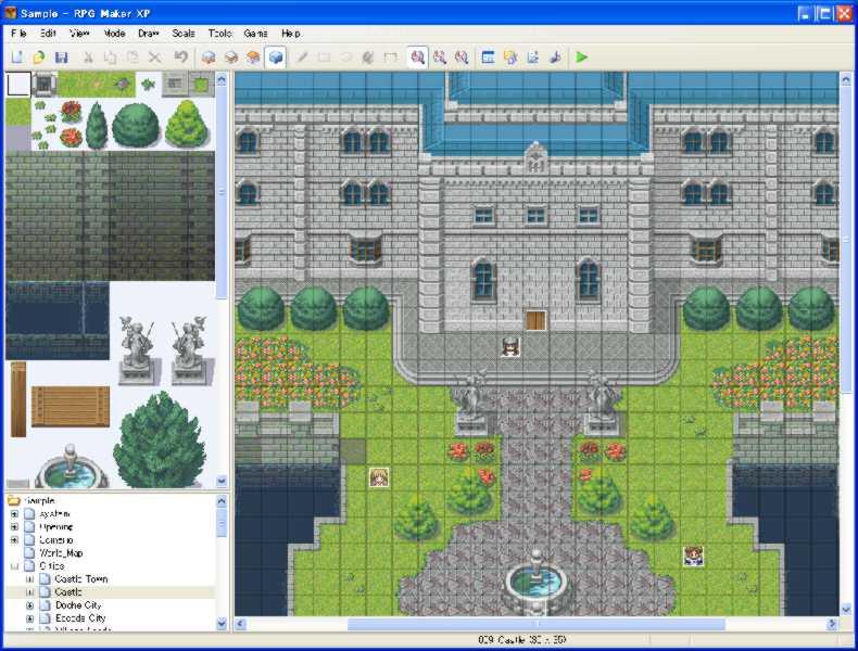 RPG Maker XP(日本:RPGXP,台湾:新RPG制作大师XP)是Enterbrain在PC上出版的第四套RPG制作大师系列软件。 RPG制作大师系列中,RPG Maker XP首先支持的640×480分辨率,先前几个版本都仅能支持320×240的分辨率。并跳脱先前版本的256色限制,支持全彩,这使得RPG Maker XP能够制作更高清的RPG游戏。 RGSS的出现,令使用者和开发者能够利用其开发出自己想要的游戏 角色设定部分:以往2000系列限制能力值最高为999,但